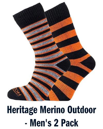 Heritage Merino Outdoor - Men's 2 Pack   Horizon Socks