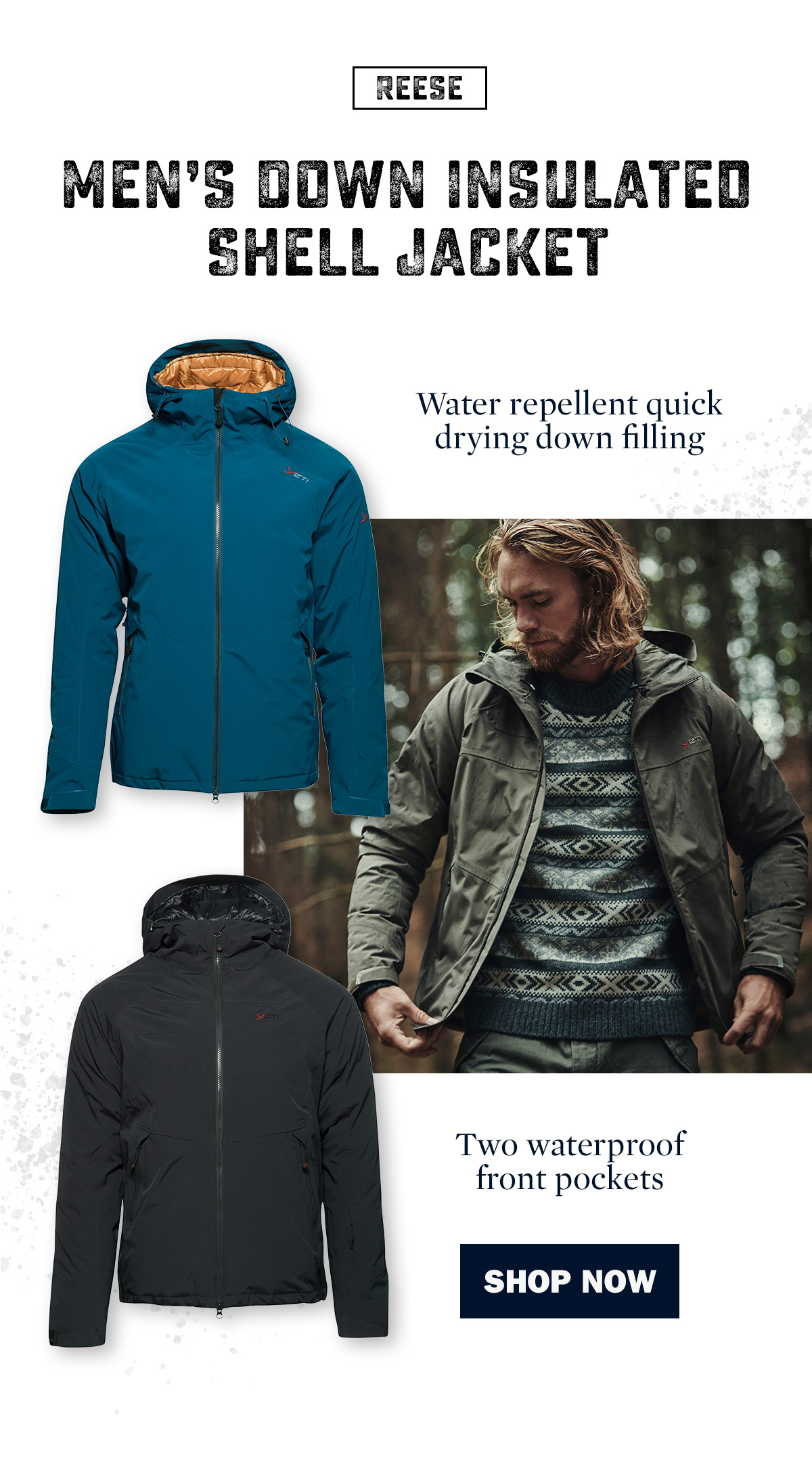Men's Reese Down Insulated Shell Jacket   Yeti